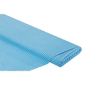 Baumwollstoff Punkte 'Lena', türkis/weiss, 4 mm Ø
