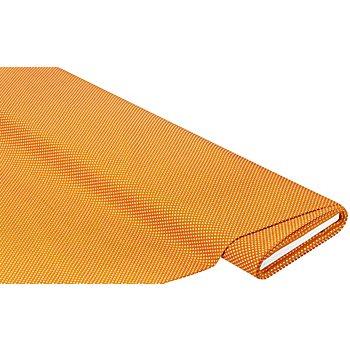 Tissu coton 'pois', caramel/blanc