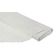 Baumwollstoff Punkte 'Mona', weiss/grün