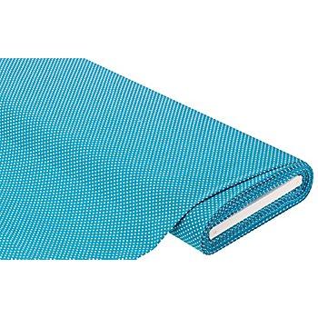 Tissu coton à pois 'Mona', bleu/blanc