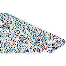 Baumwollstoff-Digitaldruck 'Mosaik', bunt