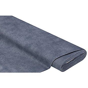 Canvas mit recycelter Baumwolle, jeansblau-melange