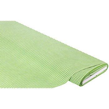 Baumwollstoff Vichykaro 'Mona', grün/weiß, 3 x 3 mm