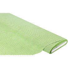 Tissu coton 'carreaux vichy', vert/blanc, 3 x 3 mm