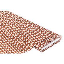 Tissu coton 'glands', marron moyen/vieux rose
