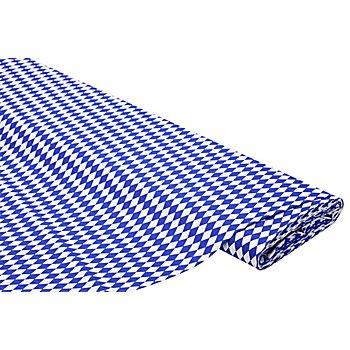 Baumwollstoff Miniraute 'Mona', blau/weiß