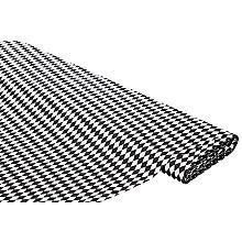 Baumwollstoff Miniraute 'Mona', schwarz/weiß