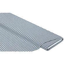 Tissu coton 'cercles & losanges', gris/bleu/blanc