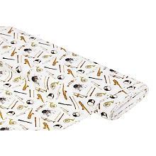 Tissu coton numérique 'Instruments'