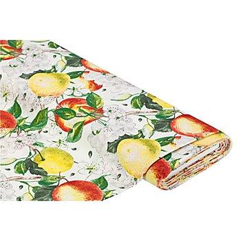 Dekostoff Äpfel 'Lorena', ecru-color