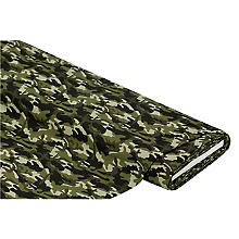 Baumwollstoff 'Camouflage', grün-color