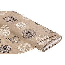 Tissu de décoration 'navigateur', écru/blanc/bleu
