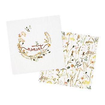 Baumwollstoff-Coupon 'Romantik', natur-color