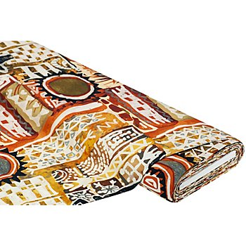 Tissu canevas 'Graphique d'Afrique', multicolore