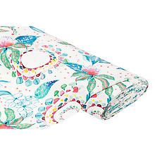 Tissu canevas 'fleurs', multicolore