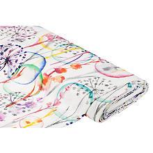Tissu canevas 'pissenlit', multicolore