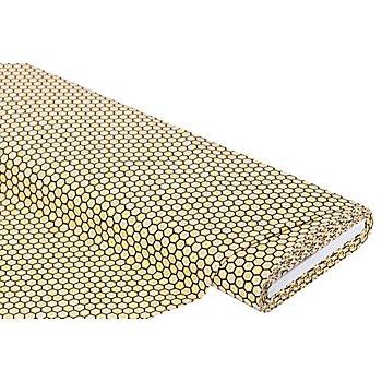 Tissu coton 'gaufres', jaune/noir, de la série 'Mona'