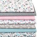"""Lot de 7 coupons de tissu patchwork """"pré fleuri"""", tons pastel"""