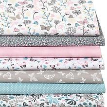 Patchwork- und Quiltpaket 'Blumenwiese', pastell
