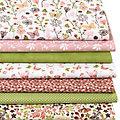 """Patchwork- und Quiltpaket """"Blumenwiese"""", grün/rosa"""