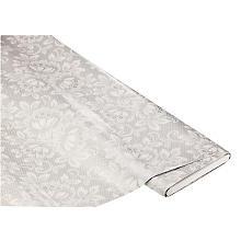 Linge de table épongeable - toile cirée 'fleurs et dentelles', gris