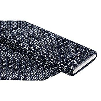 Tissu coton 'gouttes', gris foncé/bleu, de la série 'Lena'