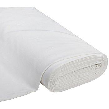 Tissu sweat-shirt 'Basic', avec envers doux et gratté, blanc