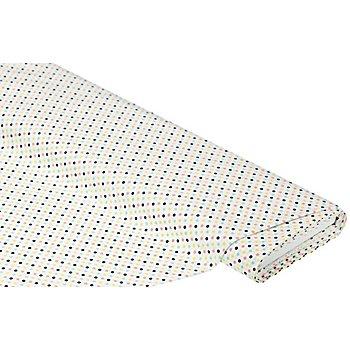 Tissu coton 'pois', blanc/tons pastel