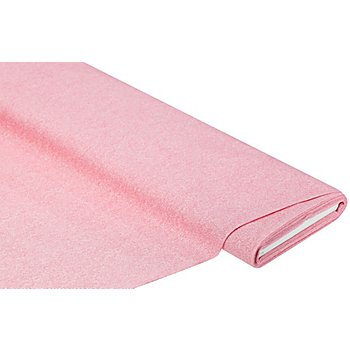 Baumwollstoff Jeans-Optik 'Mona', pink/weiß