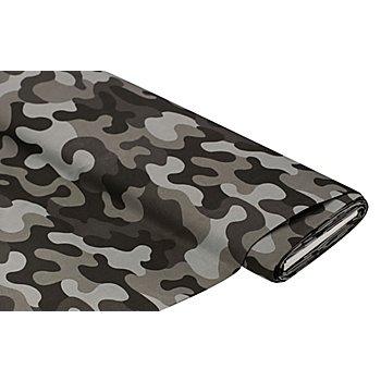 Baumwollstoff 'Camouflage', grau-color
