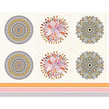 Kissen-Coupon 'Mandala', rosa/orange