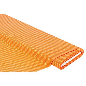 Tissu coton 'pois' de la série Mona, mandarine/blanc