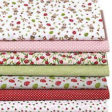 Patchwork- und Quiltpaket 'Osterhasen', rot/grün