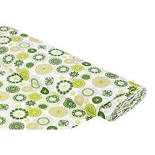 Tissu en coton 'mandala', tons verts