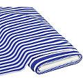 """Baumwolldruck """"Streifen"""", blau/weiß, 1 cm"""