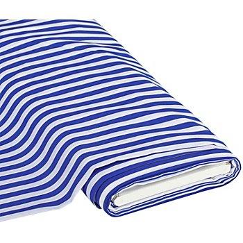 Baumwolldruck 'Streifen', blau/weiß, 1 cm