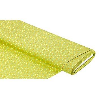 Tissu coton 'cœurs', vert/multicolore