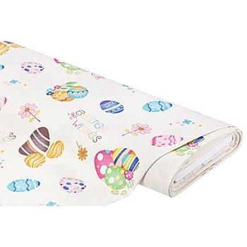 Tissu de décoration 'Pâques', écru/multicolore