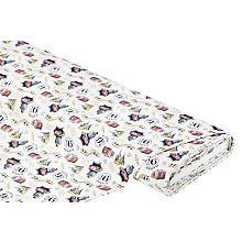 Tissu coton 'Harry Potter Hogwarts Express', blanc/multicolore