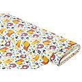 """Tissu coton """"jungle"""", nature/multicolore"""