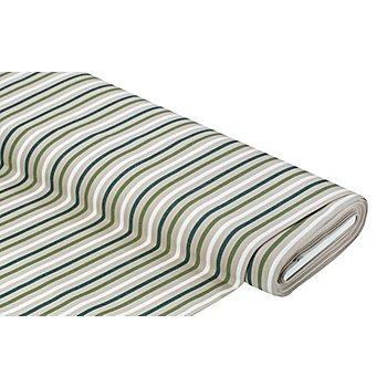 Markisenstoff Streifen 'Palma', natur/oliv