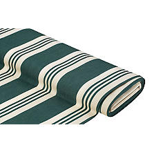 Tissu d'extérieur à rayures 'Palma', vert/nature