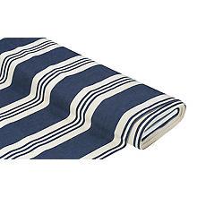 Tissu d'extérieur à rayures 'Palma', bleu jeans/nature