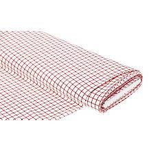 Tissu panama 'carreaux', blanc/rouge
