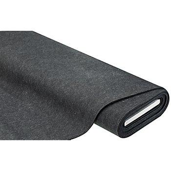 Feutrine, épaisseur : 4 mm, graphite chiné
