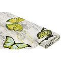 "Dekostoff Schrift/Schmetterling ""Lorena"", natur-color"