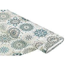Tissu de décoration 'mandala', menthe/gris, de la série Lorena