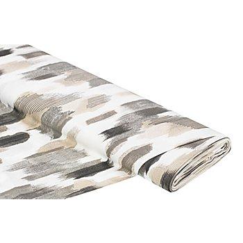 Tissu de décoration 'tâches', crème/gris, de la série Lorena