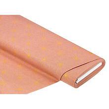 Tissu de décoration 'graphique', vieux rose/doré, de la série Lorena