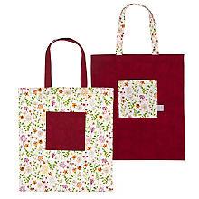 Näh-Set 'Stofftasche Blumenwiese' für 2 Stück, marsala-color